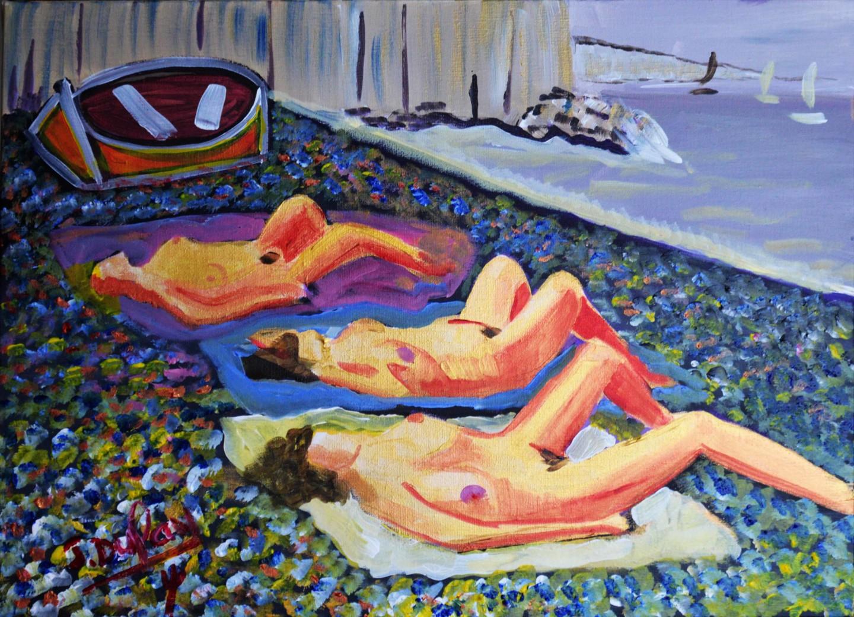 Jérôme Dufay - Femmes en or - Sur la côte normande